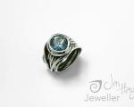 Blue Zircon Ring Bespoke Handmade ring from Hobart Jewellery shop Jai Hay Jeweller