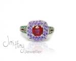 "Unique custom ""Ariel"" Ring from Hobart Jewellery shop Jai Hay Jeweller"