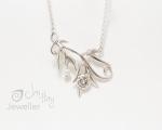 Leaf pendant Bespoke from Hobart jewellery shop Jai Hay Jeweller