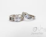 Matching Topaz Rings Hobart Jewellery shop Jai Hay Jeweller