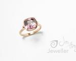 Pink Zircon from Hobart jewellery shop Jai Hay Jeweller