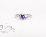 Purple Sapphire from Hobart jewellery shop Jai Hay Jeweller
