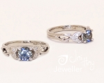 Sapphire vine ring from Hobart Jewellery shop Jai Hay Jeweller
