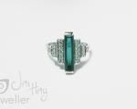 Tourmaline Bespoke Handmade ring from Hobart jewellery shop Jai Hay Jeweller